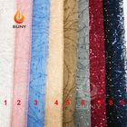 Beaded Bridal Lace Fabric Sequins Embroidery Fabric 100% Polyester Mesh
