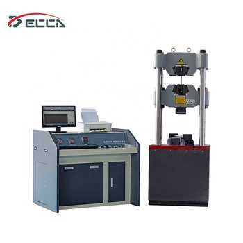 Hydraulic servo plastic pipe wire rope deformation tensile  bending tester strength testing equipment