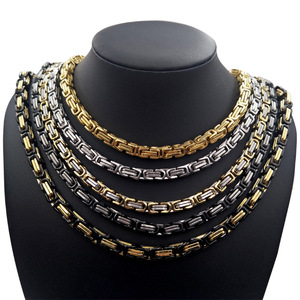 885257954d4 Wholesale custom 22k 24k gold mens stainless steel chain link necklace