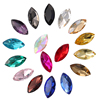 Hot sale Point back Navette Nail art Crystal Fancy Glass Stone for Hair decoration jewelry