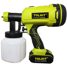 TOLHIT Cordless 18 V Batterie Powered Tragbare Lithium-Farbe <span class=keywords><strong>Spray</strong></span> <span class=keywords><strong>Gun</strong></span>