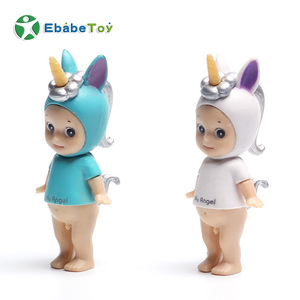 Birthday cake decoration OEM cartoon angel party dessert 3D shaped soft plastic Customized Cute Baby Unique Miniature Figures