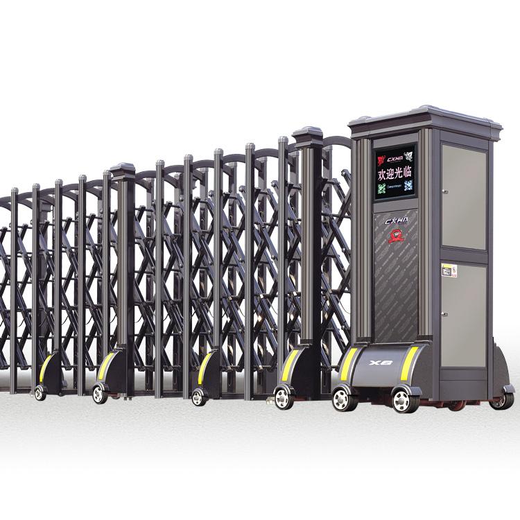 Boundary Wall Aluminum Electric Accordion Sliding Gates
