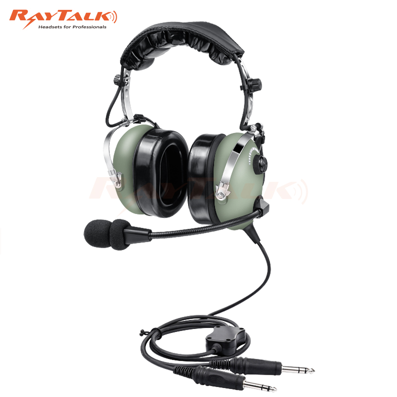 PNR Aviation Headset Noise Cancelling Headset Pilot Headset for General Aircraft