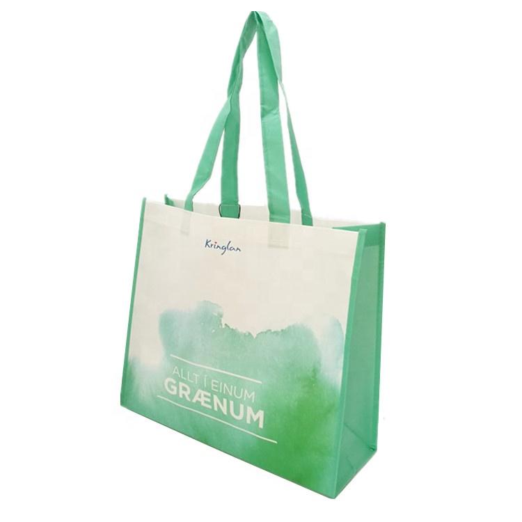 f75cff67f0cf Многоразовый водонепроницаемый на заказ рекламные ламинированные нетканый  полипропилен вместительная сумка для продуктов