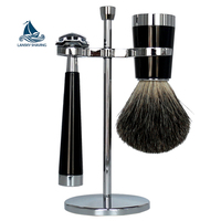 High quality shaving set with stainless steel stands and safety razor for men gift