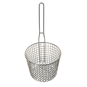 Home kitchen helper cooking tool potato SS304 round deep mesh fryer basket