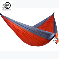 Portable Parachute Nylon Hammock; Double camping hammock bed; Two person hammock hanging