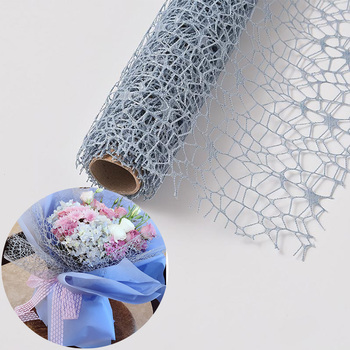wholesale Solid Color Packing material deco poly flower wrapping mesh