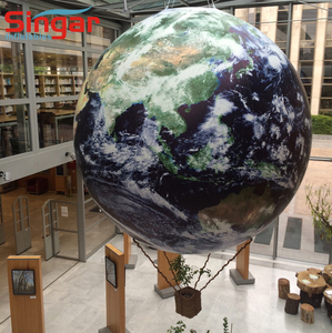 3m good quality Hanging Inflatable Earth Globe with Satellite Imagery