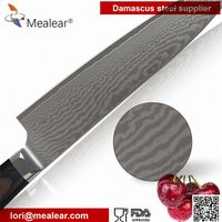 Mealear custom Carbon Japanese VG-10 Stainless Steel 67 Layers Steel 9-inch Damascus Professional Chef's Knife