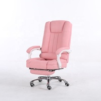 New Design Pink Computer Racing Style Pink Office Chair Comfort High Back Leather Executive Office Chair
