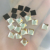Y0903 Hot selling iron on dmc quality square shaped ,iron on DMC rhinestones,4*4mm 5*5mm 6*6mm iron on DMC rhinestones