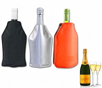 Ice Wine Bottle Cooler Sleeve Individual Gel Champagne Bags Pack