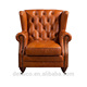 American Style Leather Chesterfield Chair Living Room Furniture