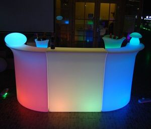 Smart App remote control rechargeable LED Glowing Table LED Outdoor Garden Bar Furniture / LED bar furniture