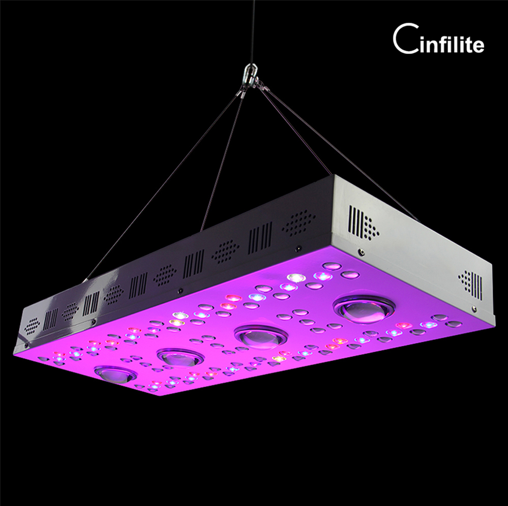High PPFD <strong>cree</strong> ir uv full spectrum 1000w cob led grow light with veg bloom