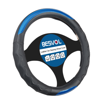 FX-P-180901 breathable leather car steering wheel cover