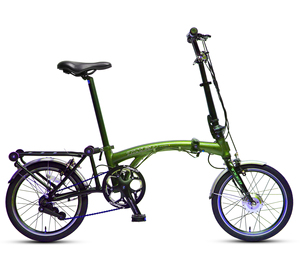 2019 Much Slim Easy To Drag 16 Inch Folding E-bike Slim Folding Electric Bike 16 Small Ebike