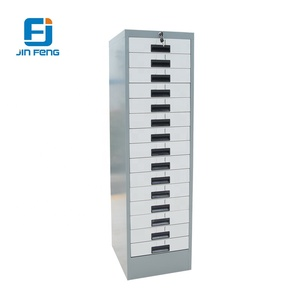 Storage metal 15 drawer multi shallow depth filing cabinet