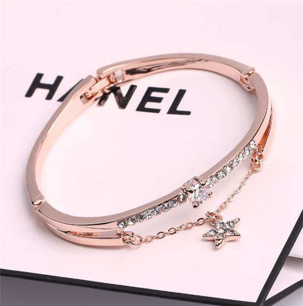 Wholesale Custom Jewelry Stainless Steel Cuff Bracelet for Women Bangles Rose Gold Ladies Bracelet