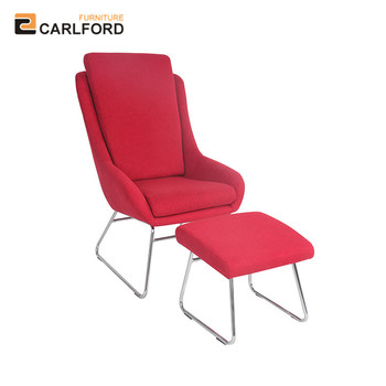 Fantastic Carlford Oem Modern Lounge Red Arm Chair Metal Frame With Footstool For Living Room Buy Lounge Arm Chair Single Recliner Sofa Lounge Arm Chair With Pabps2019 Chair Design Images Pabps2019Com