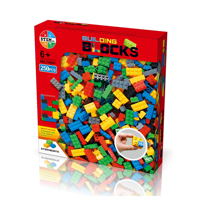Kids Block Toy with 250 PCS Building Blocks for Toddlers, Building Bricks with 6 Classic Colors for Children Birthday Gifts