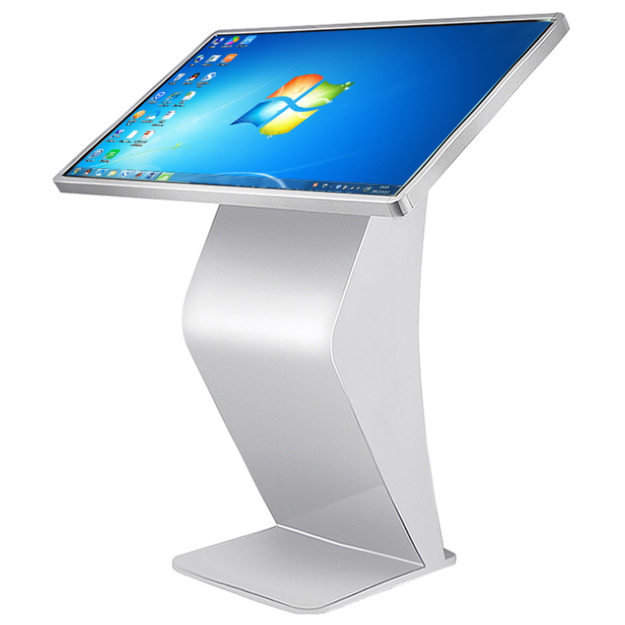 Floor stand 55 inch lcd monitor touch screen informatie kiosk