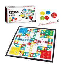 Plastic <span class=keywords><strong>Ludo</strong></span> game set kids aeroplane schaken board set educatief indoor speelgoed
