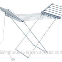 Mental material Heated Electric Clothes hanger cloth drying rack