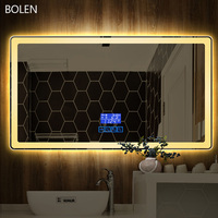 Vanity mirror with lights smart led defogger rectangle shape makeup mirror CTL305