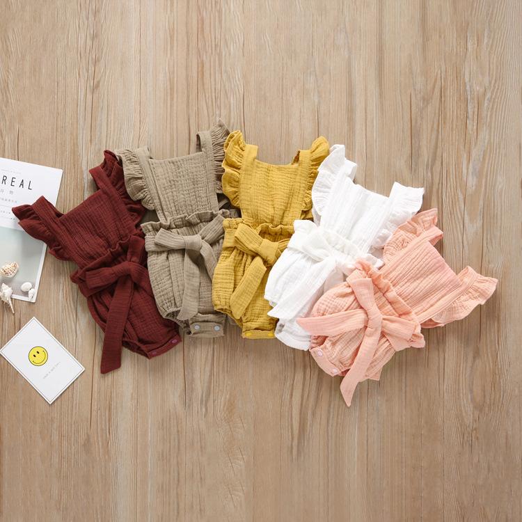 Venta al por mayor, ropa de bebé recién nacido 2019, peleles de bebé de algodón orgánico