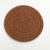 Custom embossed leather patch for clothes