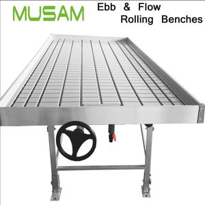 China nursery supplies water tray ebb and flow rolling bench