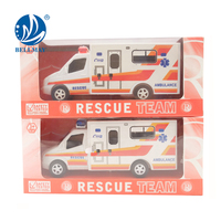 Bemay Toy Rescue Team Friction Car Vehicle Ambulance Lights Toy With Light And Sound