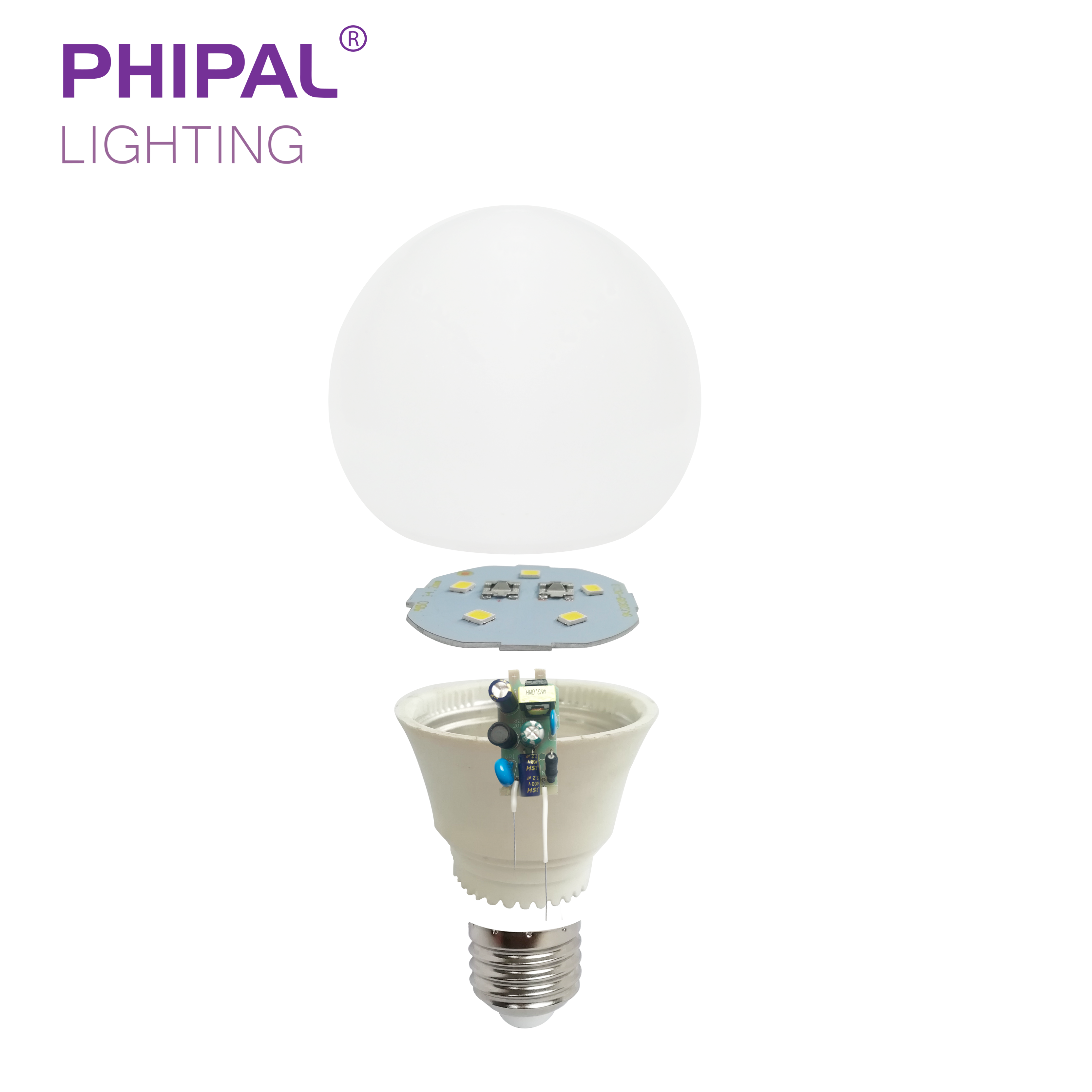 A50 5w Led Bulb Embly Skd Full Parts