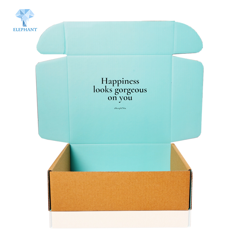 Custom eco friendly color printing corrugated paper friendly packaging shipping <strong>box</strong>