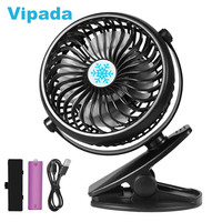 Clip on Fan Mini Portable Rechargeable Battery USB Desk Table Stand Fan 360 Rotatable Camping Stroller Clip Fan