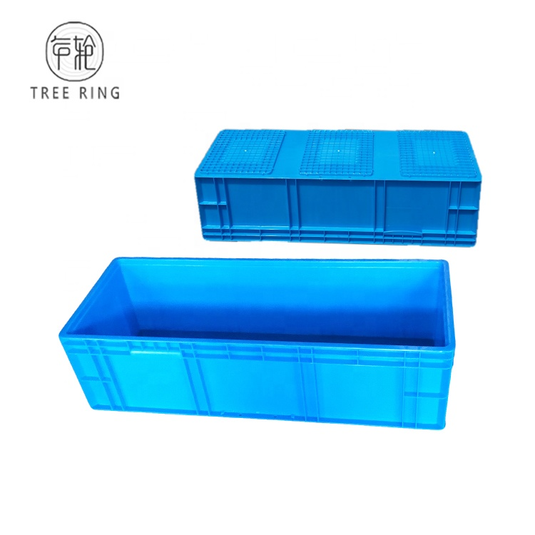 EU41222 Euro Styles Strong Blue Plastic Storage Stacking straight wall containers for Car accessories Storages