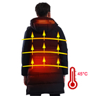 NO BATTERY Wholesale winter usb battery heater long jacket for men casual