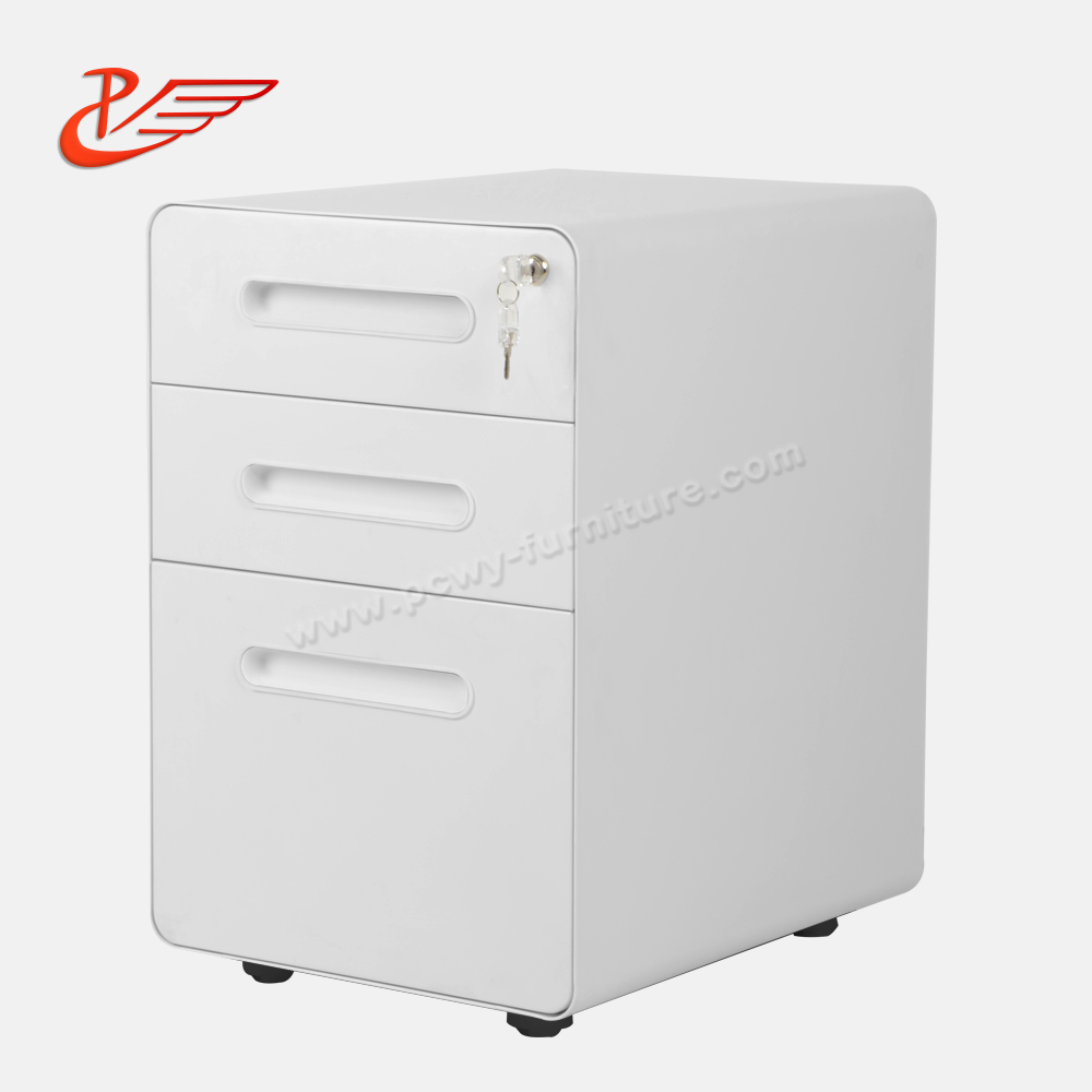 Office use commercial use 3 Drawer Steel Mobile File <strong>Cabinet</strong> Mobile Pedestal <strong>Cabinet</strong>