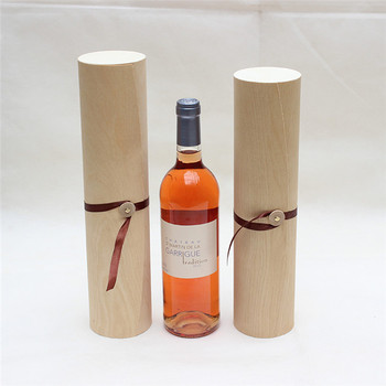 Customize Logo Health-Grade Single Bottle Birch Bark wooden Wine Gift Box