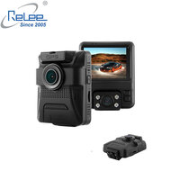 Front 1080P and rear 720P resolution 2 lens in 1 body GPS tracker car dash camera with NTK chipset