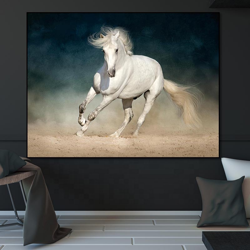 Animal painting canvas horse running horses painting canvas print the art picture painting supplies 1 pcs wall art decor
