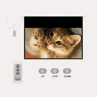 200'' 250'' 300 inch Electric Cinema Projector Screen, Projection Screen with Remote Controller