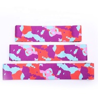 3 Inch wide stretch trainer booty builder woven hip elastic circle band with camouflage design