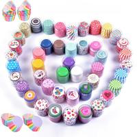 Colorful 100 PCS Cupcake Paper Cases Cup Cake Wrappers Liners Holder Packaging Containers Baking Cups Boxes Pastry Decoration