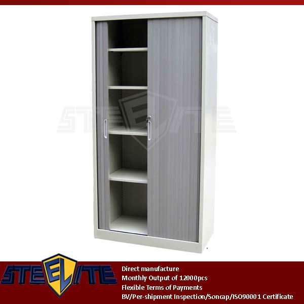 High Quality Durable 2 Tier Rolling Door Cupboard / Small Plastic ...