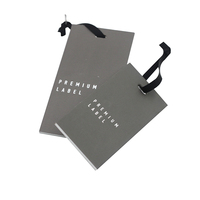 Luxury Design Custom Printing Logo Private Label Garment Clothing Recycled Thick Paper Card Hang Tags