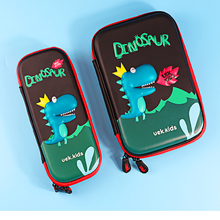 wholesale Custom Printed cute Dinosaur school zipper pencil case for kids